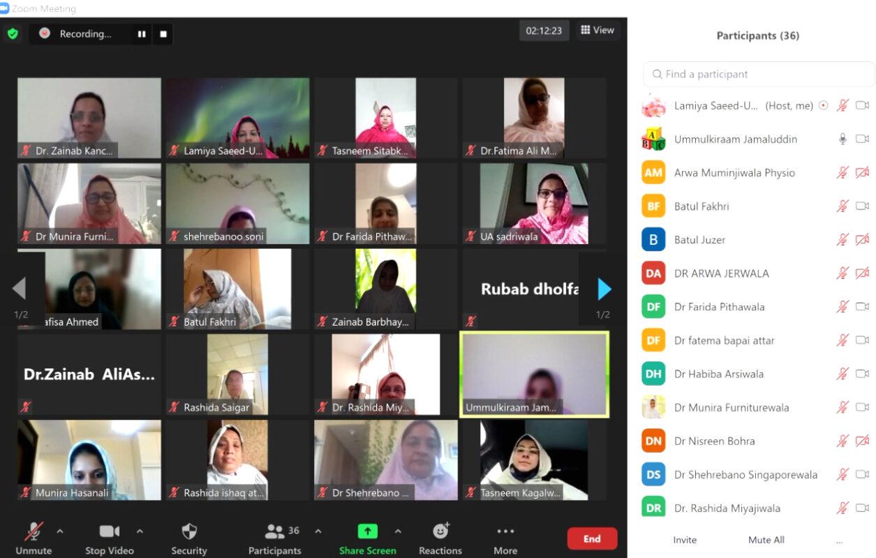 A Virtual Get-Together of Dawoodi Bohra Women Doctors of Dubai